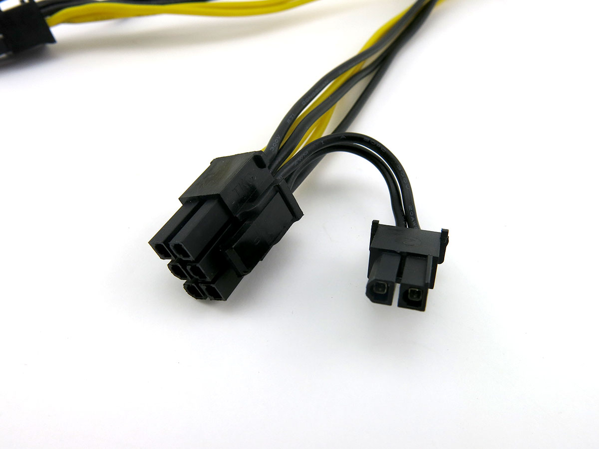 18awg Pcie 6pin To Dual 8 6 2 Pin Y Splitter Cable Extension