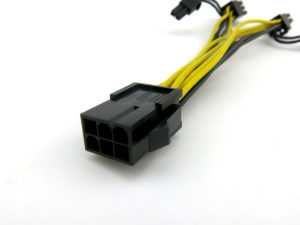 PCIe power extension splitter cable for GPU mining