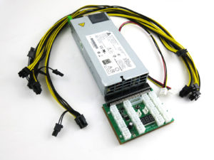 GPU PSU kit with breakout board adapter and PCIe cables