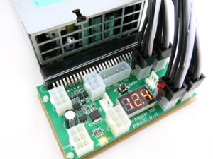 X6B power supply adapter with 6pin PCIe power cables for ASIC and GPU mining power supply
