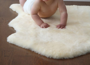 Auskin Shorn Lambskin Infant Care Baby Rug